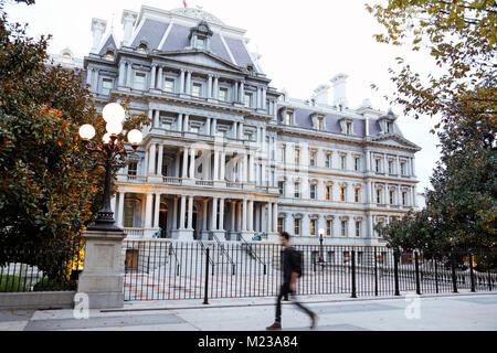 The Eisenhower Executive Office Building, Washington D.C. at dusk - Stock Image