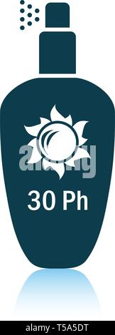Sun protection spray icon. Shadow reflection design. Vector illustration. - Stock Image