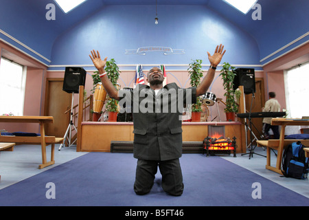 Pentecostal Pastor Joe Nwokoge of the Zion Praise Centre Kirkaldy - Stock Image