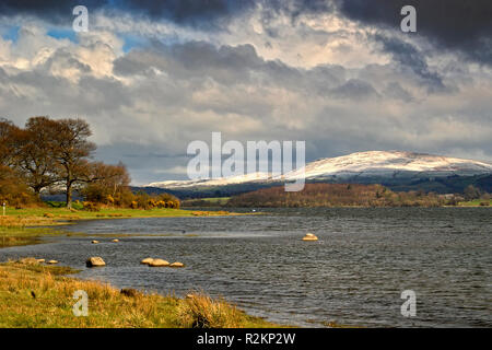 Bassenthwaite Lake On A Stormy Day - Stock Image
