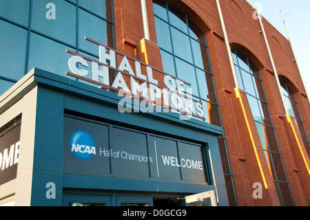 USA, Indiana, Indianapolis, Hall of Champions, National Collegiate Athletic Association Museum. - Stock Image
