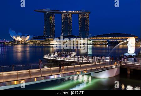 Marina Bay, Singapore - Stock Image