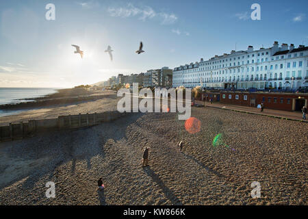 Eastbourne Beach - Stock Image