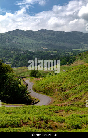 The Cumbrian Mountains, near Langdale and Elterwater, Lake District National Park, UK - Stock Image