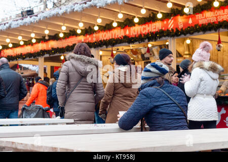 Budapest, Hungary. 23rd Dec, 2017.  Christmas Fair at Basilica in Budapest Credit: Veronika Pfeiffer/Alamy Live - Stock Image
