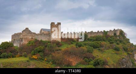 Cornatel castle, Castillo de Cornatel, Priaranza del Bierzo, Leon Province, Castile and Leon, Spain. - Stock Image