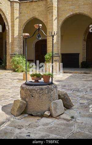 Patio of the Cathedral of Baeza, Jaén, Andalusia, Spain. - Stock Image