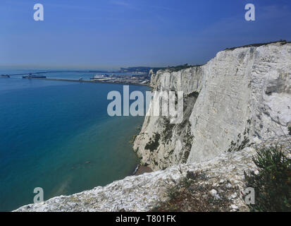 The White cliffs of Dover. Kent. England. UK - Stock Image