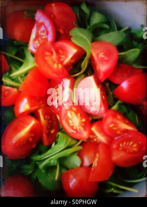 Tomato and rocket salad - Stock Image