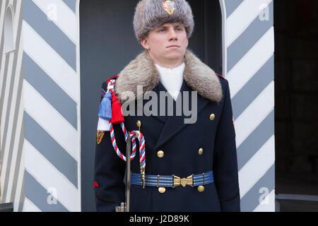 Czech Republic, Prague. Royal guard at Prague Castle. Credit as: Wendy Kaveney / Jaynes Gallery / DanitaDelimont.com - Stock Image