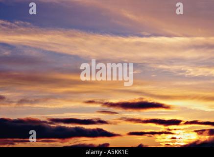 Pacific Northwest Sunset in Washington State USA 1998 - Stock Image