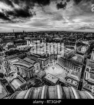 Aerial view of Pater Noster Square, London - Stock Image