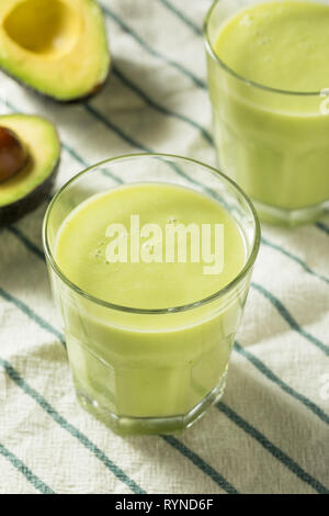 Homemade Organic Avocado Water Ready to Drink - Stock Image