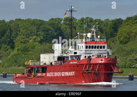 Diving support vessel Wind Express - Stock Image