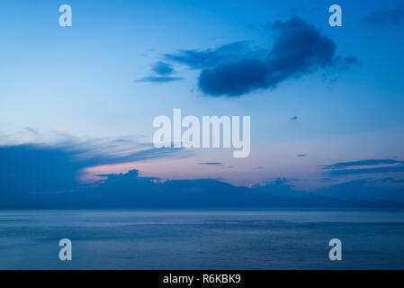 Twilight sky over the sea. Abstract background - Stock Image