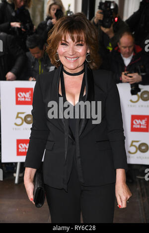 London, UK. 12th Mar, 2019. LONDON, UK. March 12, 2019: Lorraine Kelly arriving for the TRIC Awards 2019 at the Grosvenor House Hotel, London. Picture: Steve Vas/Featureflash Credit: Paul Smith/Alamy Live News - Stock Image
