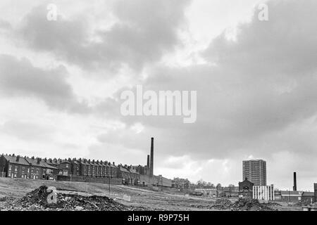 Leeds, West Yorkshire, UK. The Meanwood district in 1974, before redevelopment and regeneration - Stock Image