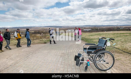 Tourists taking pictures at Geysir, South Iceland - Stock Image