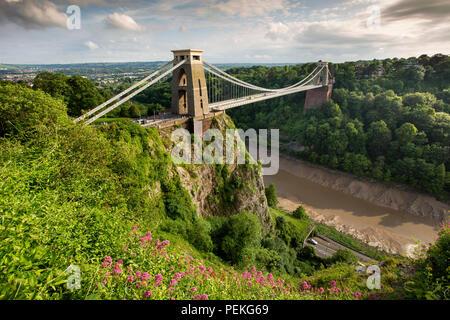 UK, England, Bristol, Avon Gorge, Brunels Clifton Suspension bridge - Stock Image