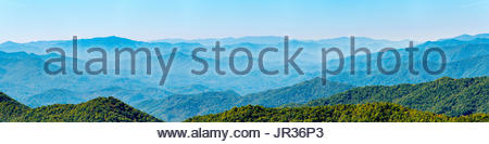 Blue Ridge Mountains from the Blue Ridge Parkway, Jackson County, North Carolina, United States - Stock Image
