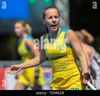 Krefeld, Germany, June 16 2019, hockey, women, FIH Pro League, Germany vs. Australia:  Emily Chalker (Australia) gestures. - Stock Image