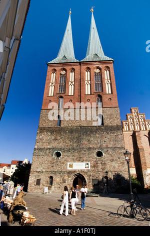 Berlin center Nikolai church - Stock Image