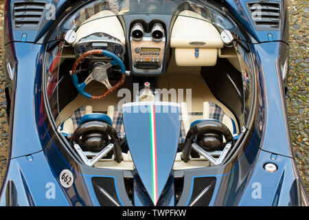 Turin, Piedmont, Italy. 22nd June 2019.Italy Piedmont Turin Valentino park - Valentino castle - Auto Show 2019 - Pagani Zonda Barchetta Credit: Realy Easy Star/Alamy Live News - Stock Image