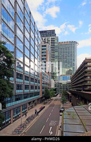 Silk Street,Barbican,London,England,UK - Stock Image