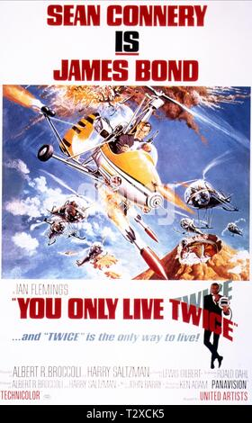 SEAN CONNERY POSTER,  YOU ONLY LIVE TWICE, 1967 - Stock Image