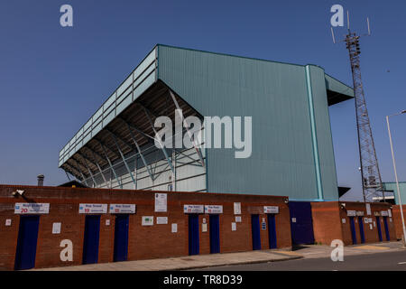 Kop Stand at Tranmere Rovers Wirral April 2019 - Stock Image