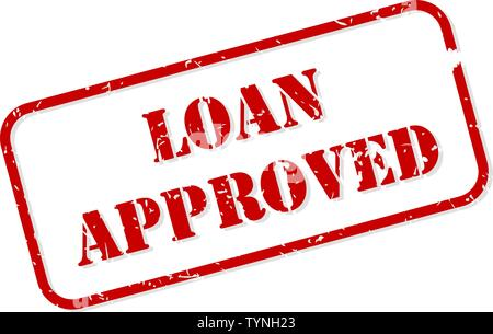 Loan approved red rubber stamp vector isolated - Stock Image