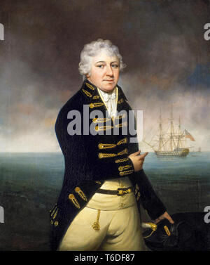 Portrait of an East India Company Captain, c. 1800, Stephen Hewson - Stock Image