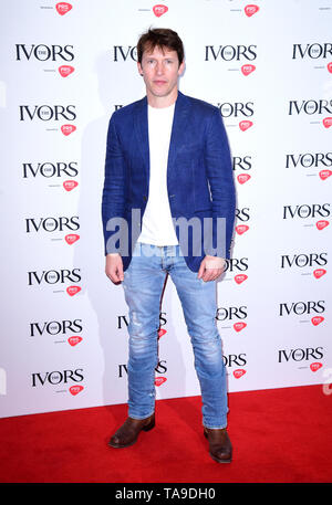James Blunt during the Annual Ivor Novello Songwriting Awards at Grosvenor House in London. - Stock Image