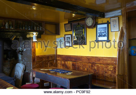 The Square and Compass - interior room at the popular pub in Worth Matravers, in Dorset, UK. - Stock Image