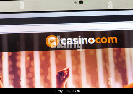 Casino.com, Casino.com website, Casino.com logo, Casino.com online, Casino.com gambling, Casino.com bookmakers, online gambling, website,  gambling - Stock Image