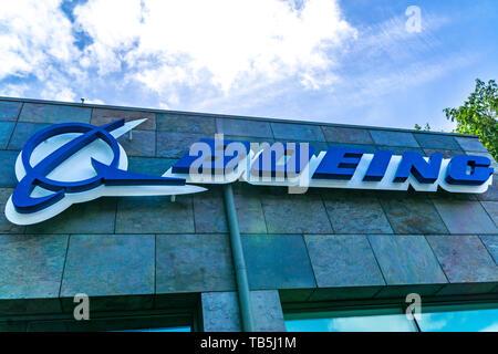 Boeing Company location in Menlo Park, Silicon Valley California USA - Stock Image