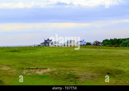 Remote detached houses in a seaside town Southwold of the UK - Stock Image