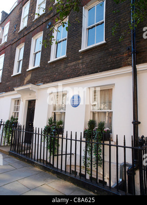 14 Barton Street, Westminster, Former home of T. E. Lawrence and were he wrote The Seven Pillars of Wisdom. - Stock Image
