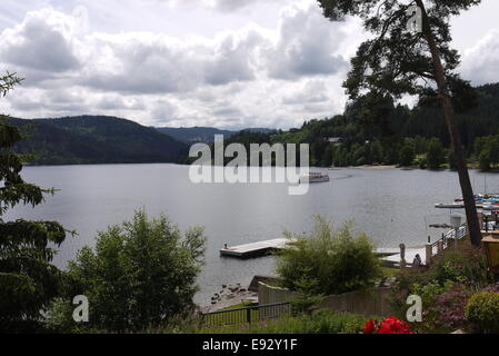 Sommerstimmung am Titisee Strandbad - Stock Image