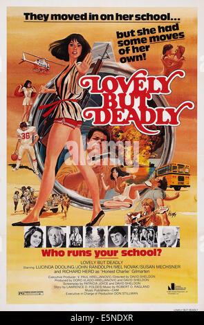 LOVELY, BUT DEADLY, U.S. poster art, Lucinda Dooling (bottom left), John Randolph ( bottom right), 1981. ©Juniper - Stock Image