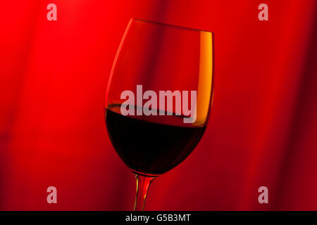 Glass of red wine - Stock Image