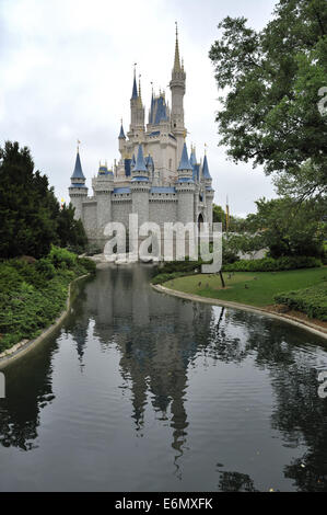 Cinderella Castle, Magic Kingdom Park, Walt Disney World, Orlando, Florida - Stock Image