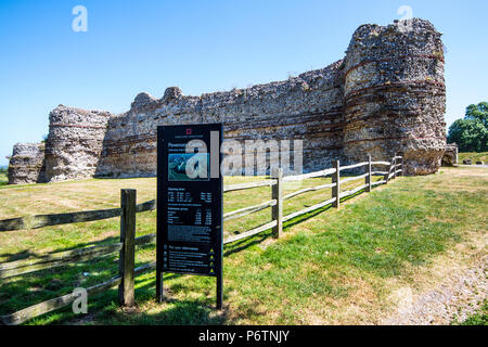 The entrance to Pevensey Castle in East Sussex, England - Stock Image
