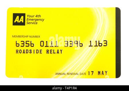 AA membership card - Stock Image