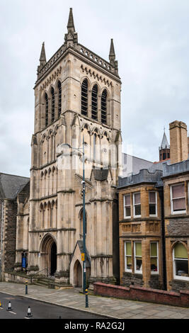 Stow Hill, Newport, South Wales, UK. St Mary's Church (R.C.) was built in 1839. - Stock Image