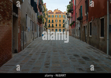 A street in the early morning in Venice Italy - Stock Image