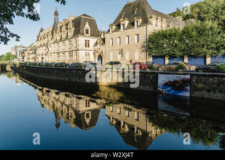 Quimper, France - August 2, 2018: Cityscape of the capital of the Finistere department of Brittany in northwestern France - Stock Image
