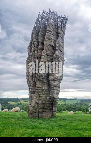 Ursula von Rydingsvard Yorkshire Sculpture Park, Wakefield (YSP) - Stock Image