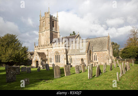 Village parish church of Saint James, Avebury, Wiltshire, England, UK - Stock Image