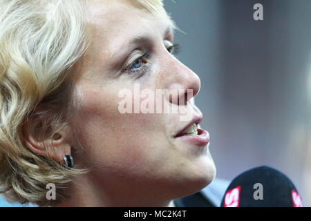 Zurich, Switzerland. 08th, Sep 2011.  Christina Obergfoll of Germany  after the women's Javelin Throw during the IAAF Diamond League athletics competi - Stock Image